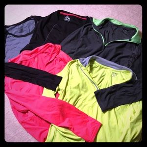 💜5-Pack Quick-Dry, Long-sleeved Workout Shirts💜